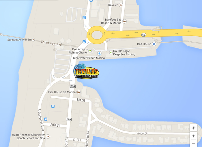 Map Of Clearwater Beach Florida.Thriller Power Boat Tours Clearwater Beach Fl Sigh Seeing Dolphin